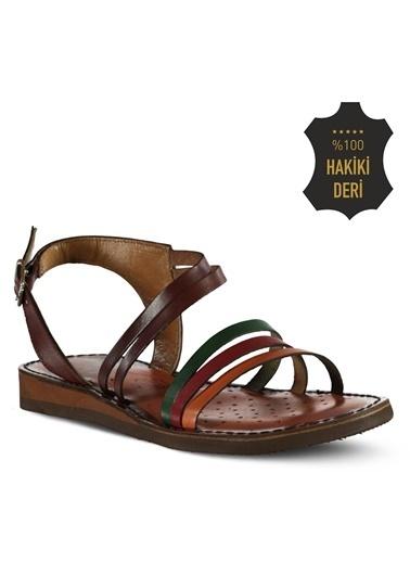 Marjin %100 Deri Sandalet Renkli